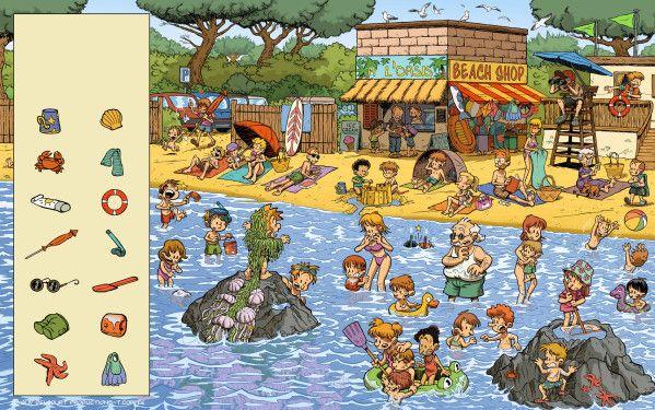 """Durant ces dernières semaines, j'ai eu le plaisir de collaborer avec Thierry Coppée sur une série de 10 illustrations pour le tome 2 de """"Cherche et trouve Toto"""" (personnage de la célèbre série des blagues de Toto, aux éditions Delcourt). Le principe est..."""