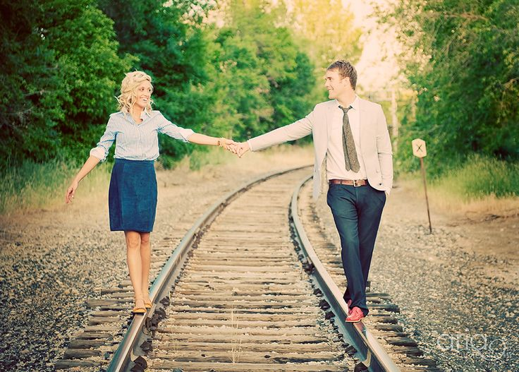 Railroad · creative photosengagement picsevent photographyphotography couplesengagement photographypicture ideaspicture