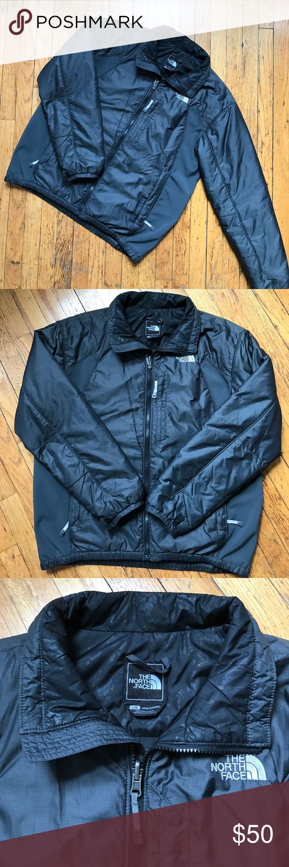 North Face Men's Winter Coat Size large. Dark grey. Great condition! Main body is 52% nylon and 48% polyester, side panel is 59% polyester, 35% nylon, and 6% elastane. Used. Any questions feel free to ask! The North Face Jackets & Coats