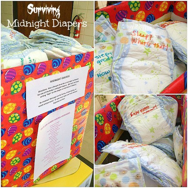 Such a fun and easy Baby Shower Idea for those late night diaper changes. @beautyandbedlam