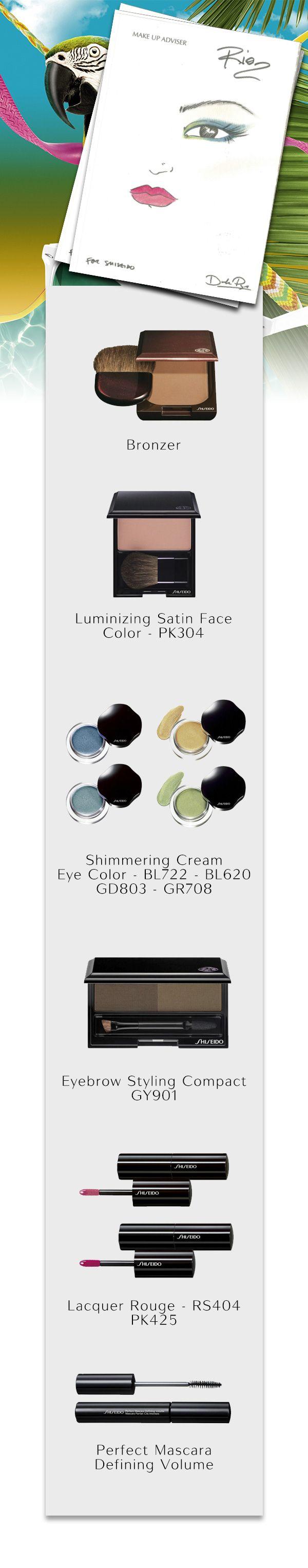 Ispirato all'allegria del #Brasile, il nuovo #makeup di #Rio gioca su toni esotici e vivaci. Un #look unico e ricercato per non passare inosservate! #ShiseidoModa #sunsational #estate