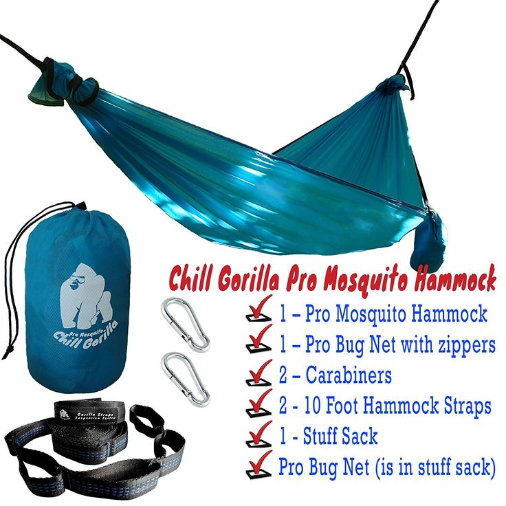 Medium image of amazon    sale chill gorilla pro mosquito luxury hammock with tree straps  15 8