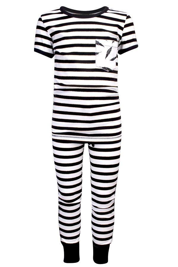 Claesen's pyjama voor meisjes Breton zwart�