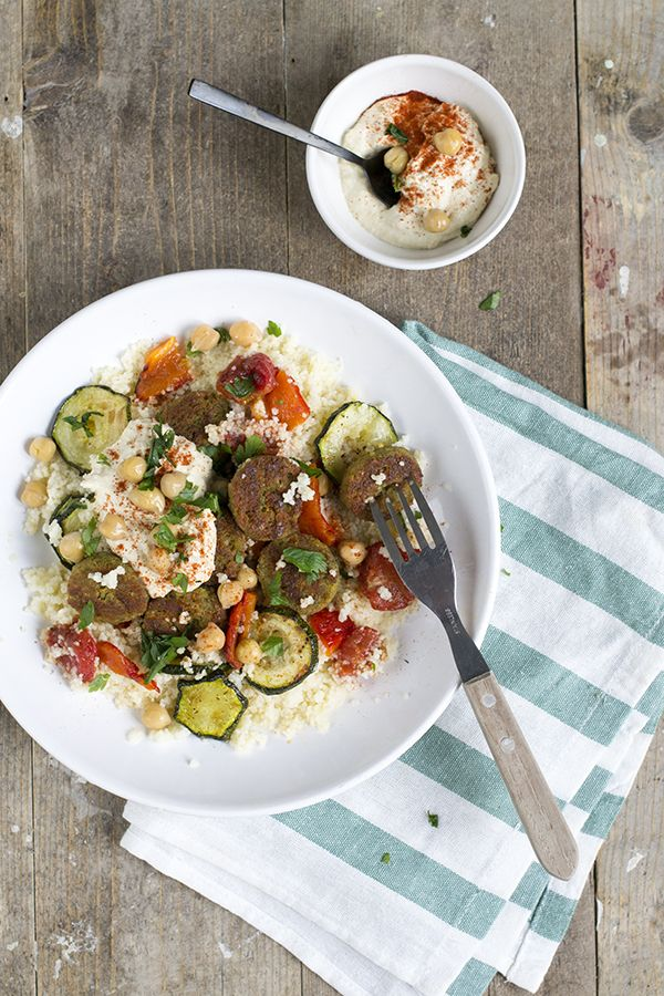 Falafelsalade met couscous - Brenda Kookt