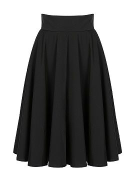 Shop Black High Waist Midi Skater Skirt from choies.com .Free shipping Worldwide.$19.9