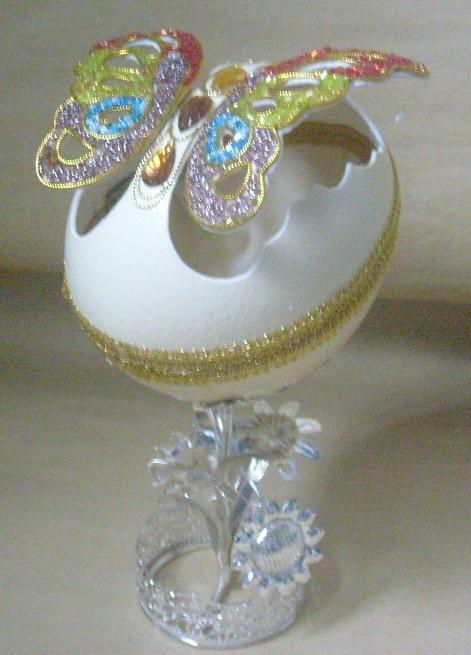 decorativos de los huevos de avestruz de artesanía