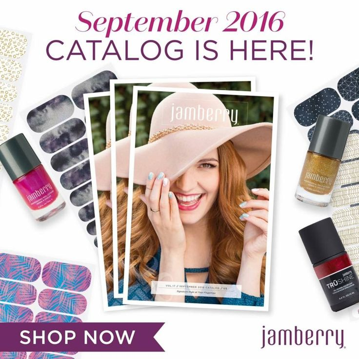 New catalogue is out - so many beautiful new wraps, gels, lacquers and hand care products. I'm in love ❤️ sammie.jamberry.com