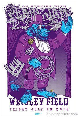 Pearl Jam - 2013 Ames Brothers purple gorilla monkey poster print wrigley