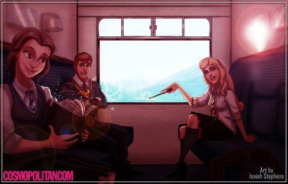 Harry Potter : si les personnages de Disney s'étaient inscrits à Poudlard 01