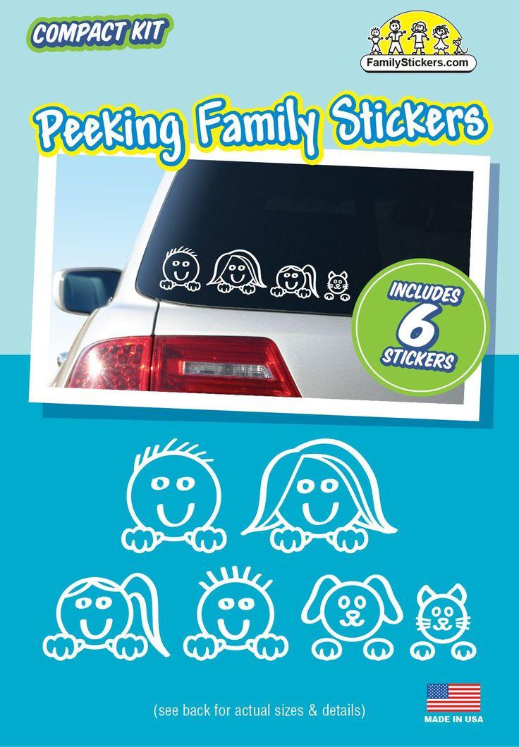Peeking Family Stickers - Compact Kit
