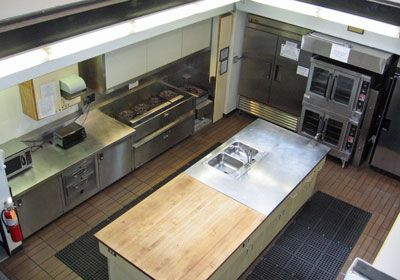 Commercial kitchen goodman 39 s restaurant pinterest for Small commercial kitchen layout ideas