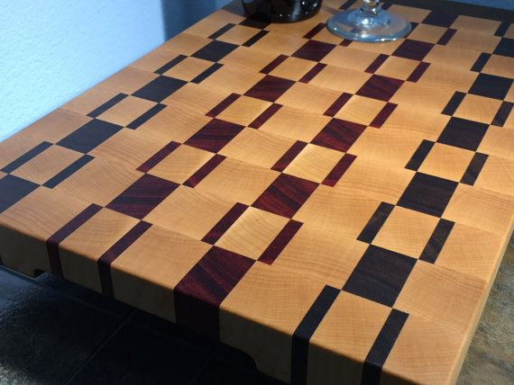 Handcrafted using high quality hardwoods. Every cutting board is build with attention to details and a whole lot of tender, love and care. Every cutting board has four non-slip rubber bumper feet on the bottom side(no extra charges) and finger grips on both ends. This end grain cutting board is durable that will service your kitchen for years to come. All of my end grain cutting boards are finished with food grade mineral oil and food grade mix of beeswax and mineral oil.  Handcrafted in…