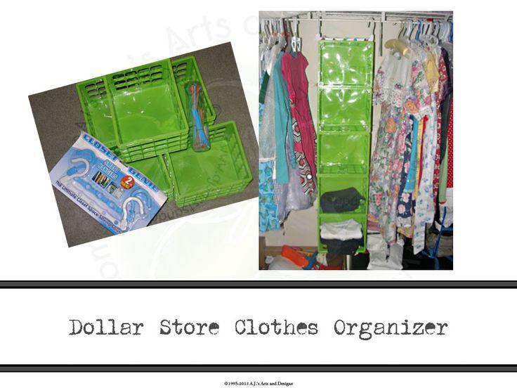 Dollar Store Clothes Organizer