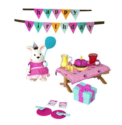 Lil Woodzeez 30 Piece Birthday Party Playset For Ages 3 And Up Li