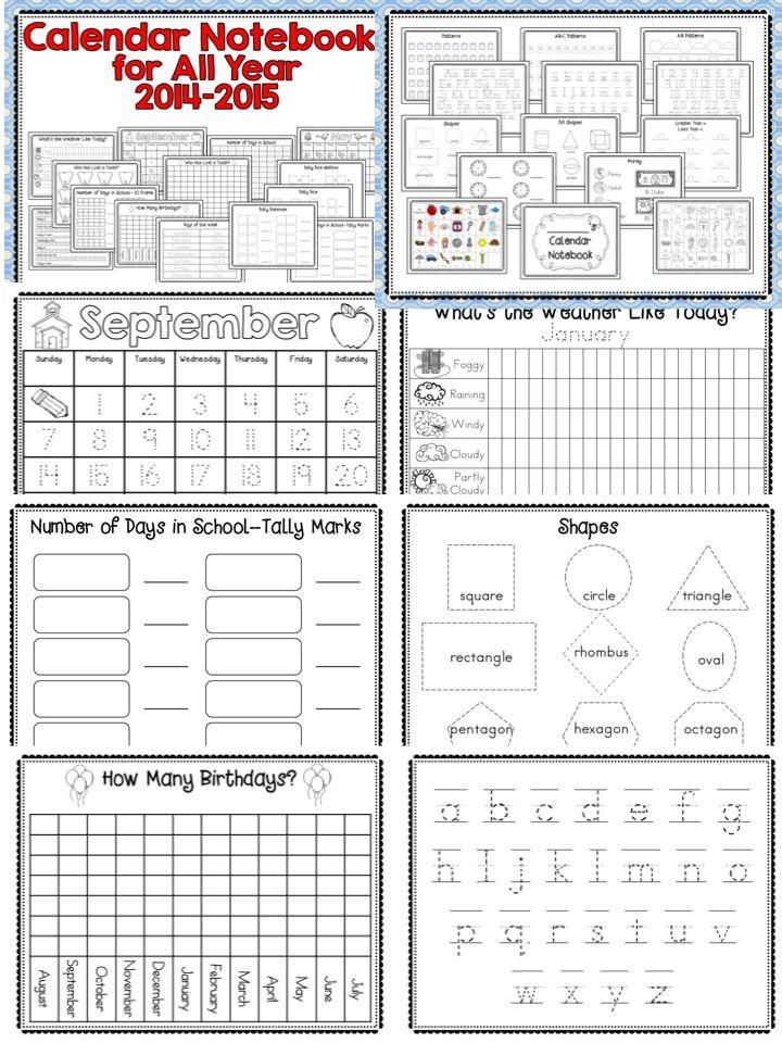 Calendar Notebook 2015 : Interactive calendar notebooks for all year a