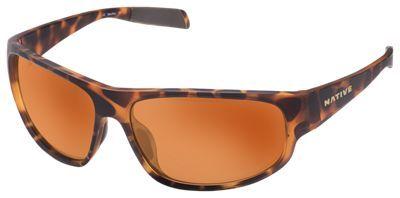 Native Eyewear Crestone Polarized Sunglasses w/ Interchangeable Lenses - Desert Tortoise/Brown, Sportflex