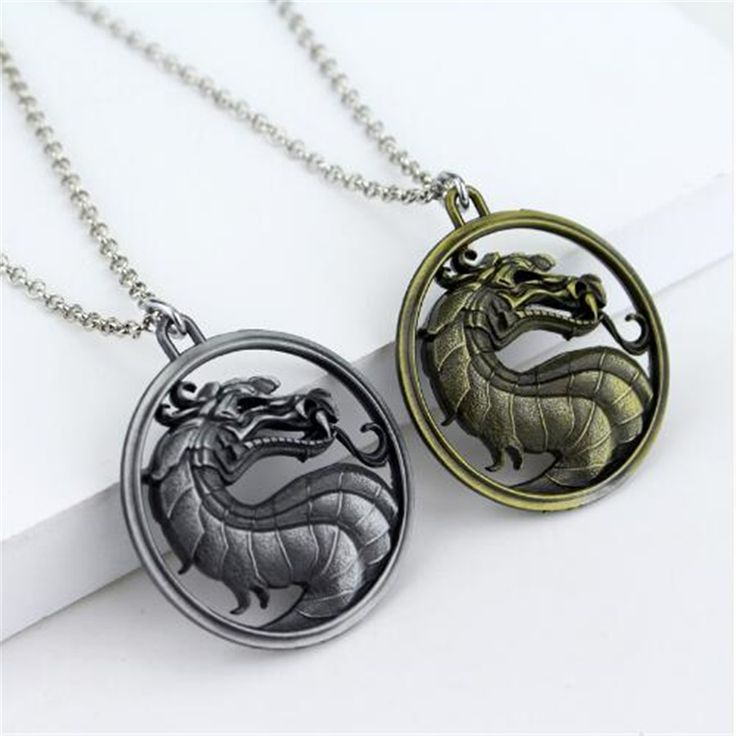 5 Style High Quality Game Mortal Kombat Necklace Silver Bronze Metal Movement Pendant Necklace