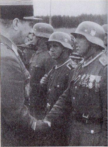 Honored french soldier with medals charlemagne division - French div 2 ...