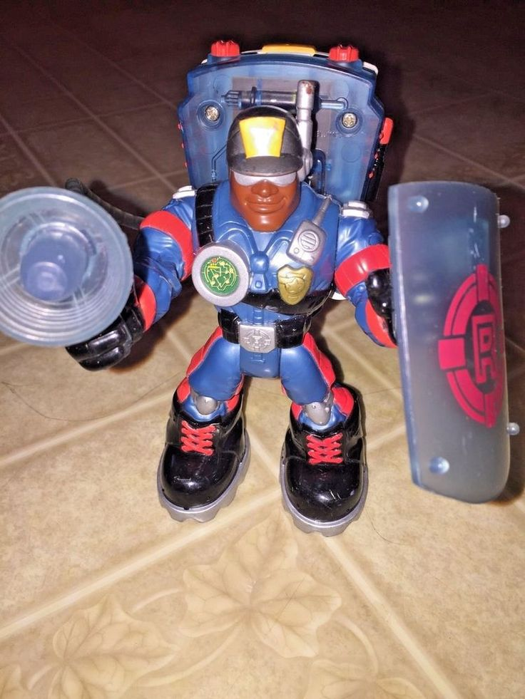 Fisher Price Rescue Heroes Figure Voice Tech Jake Justice Police Officer Police #FisherPrice