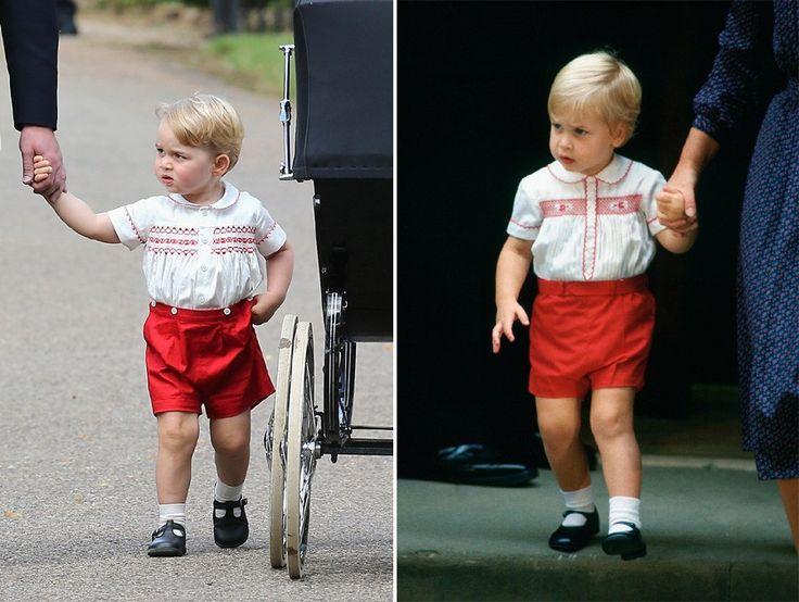Príncipe George usa mesmo look de William bebê (Foto: Getty Images)