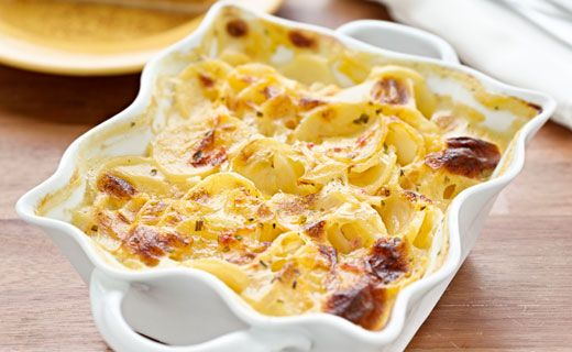 Epicure's Creamy Scalloped Potatoes (3 Onion Dip Mix, Chicken Bouillon, Louisiana Hot & Spicy Dip Mix)