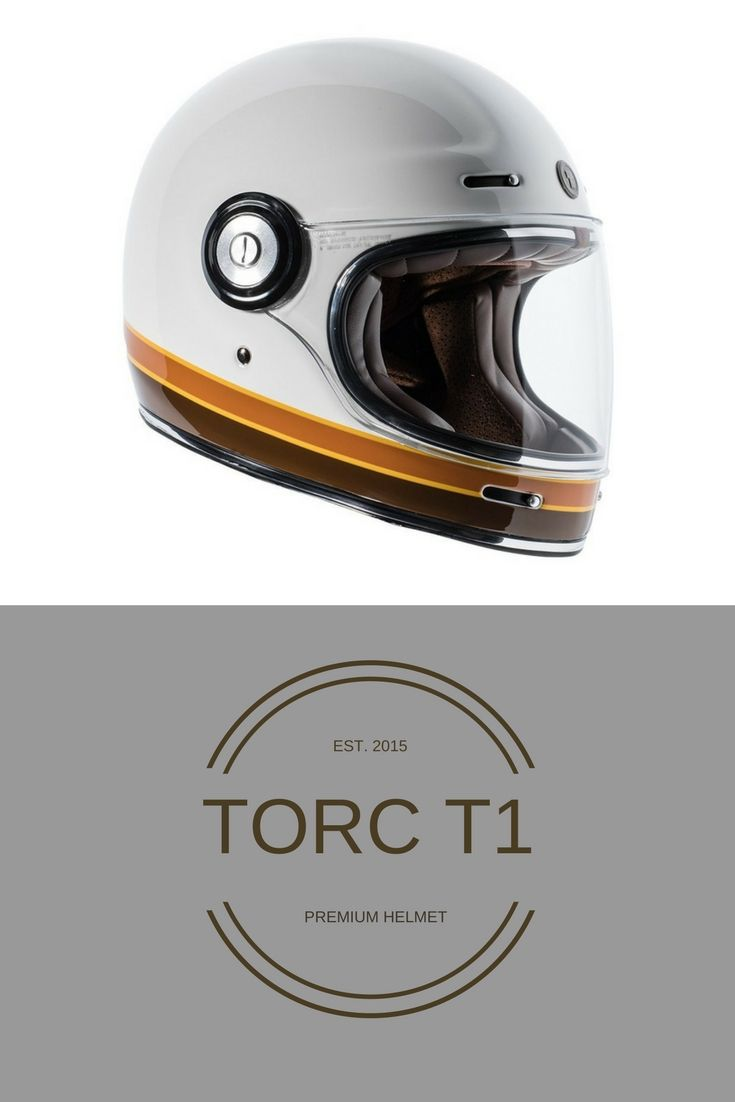 6d131a0a TORC T1 Retro Fiberglass Full-Face-Helmet-Style Motorcycle Helmet with  Graphic.