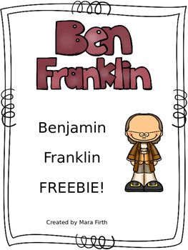 Use this read and color book to help your students learn about Ben Franklin! Print and go - you'll love how easy it is!If you like this FREEBIE, check out the full unit here!Included in the full unit:-5 informational posters -Bubble map -Read-and-color reader -Comprehension passage -Word search -Writing paper -Interactive notebook activity -Craftivity -Study guide -Assessment -Answer KeysCheck out other products created by me here!Created by Mara Firth.