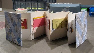Book made during my Recycled Accordion Book class at Studio Place Arts in Barre, VT.