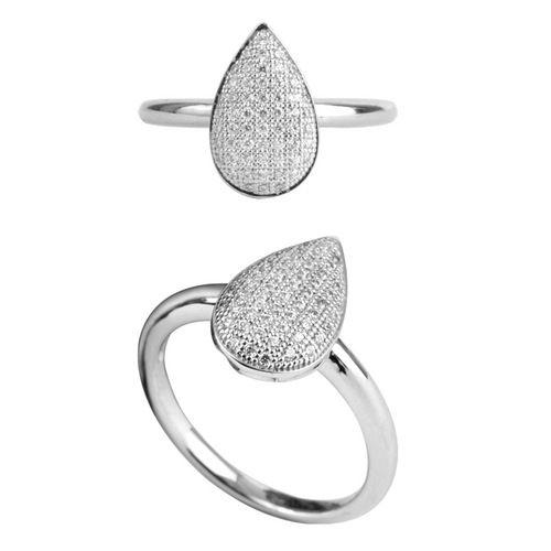 Silver Micropave CZ Teardrop Ring $29 - purejewels.com.au