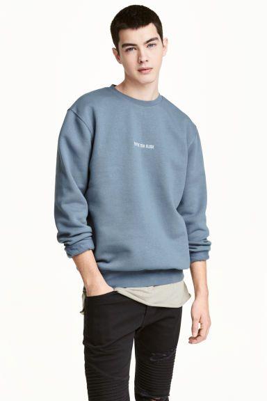 Sweater - Duifblauw - HEREN | H&M NL 1