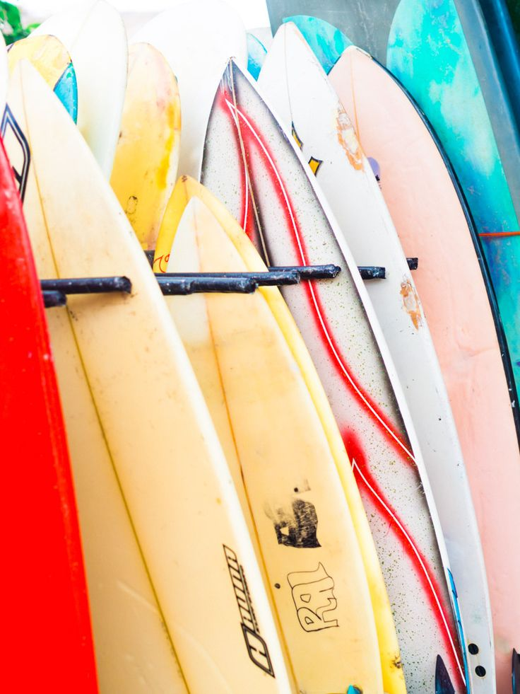 Colors of Canggu, Bali <3 Surfboards. Click through to read more about Bali's coolest area!