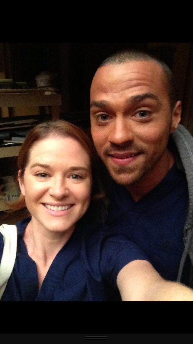 Sarah Drew and Jesse Williams | Behind the scenes ... Jesse Williams And Sarah Drew