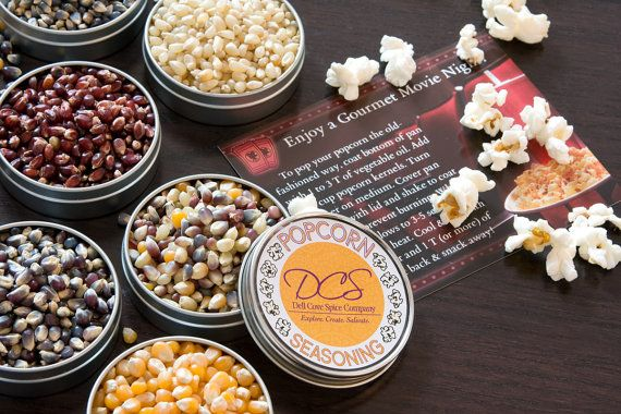 Gourmet popcorn and popcorn seasonings  popcorn by dellcovespices, $25.95