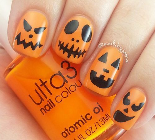 25+ gorgeous Pumpkin nail art ideas on Pinterest | Fall nail art, Nails  fall 2016 art designs and Cute fall nails - 25+ Gorgeous Pumpkin Nail Art Ideas On Pinterest Fall Nail Art