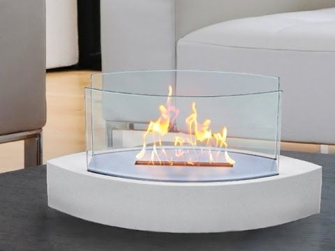 Ventless Fireplace on Grommet! Uses Ethanol to burn for several hours.