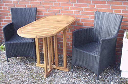 Balkontisch Klapptisch Gartentisch Beistelltisch Bistro Tisch Teak Massiv Holz Oval 120 x 60 x 75cm Massiv Holz