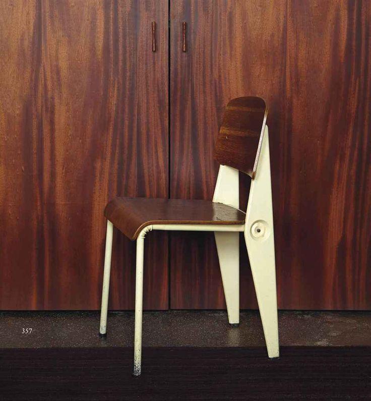 jean prouve 1901 1984 a 39 demountable 39 side chair circa. Black Bedroom Furniture Sets. Home Design Ideas