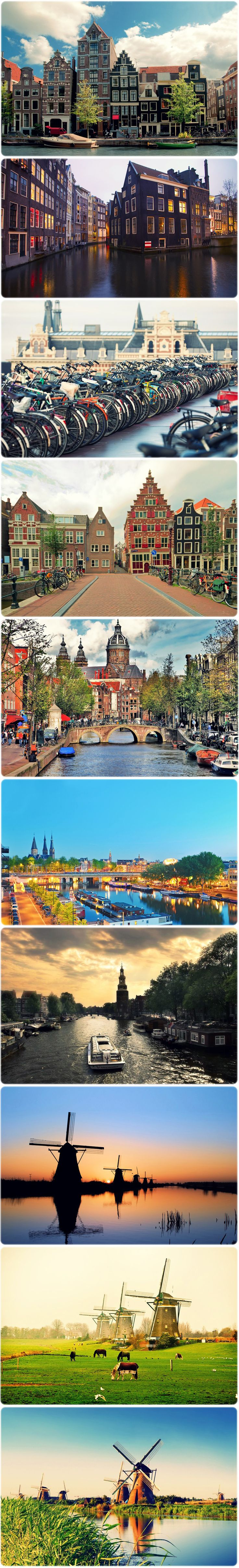 I want to go to Amsterdam and ride bikes and drink coffee by the canals...: