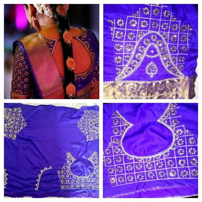 Stunning South Indian Bridal Blouse Design #BridalBlouse #SouthIndianBridalBlouseDesign