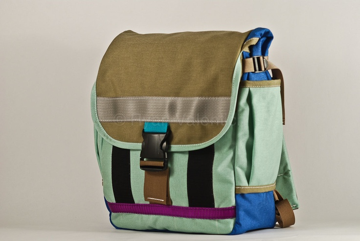 Small backpack -- mint and tan -- made to order.. $125.00, via Etsy.