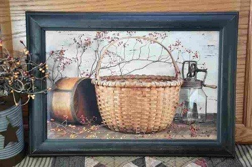 Irvin Hoover Still Life - Basket Butter Churn - Primitive Star Quilt Shop