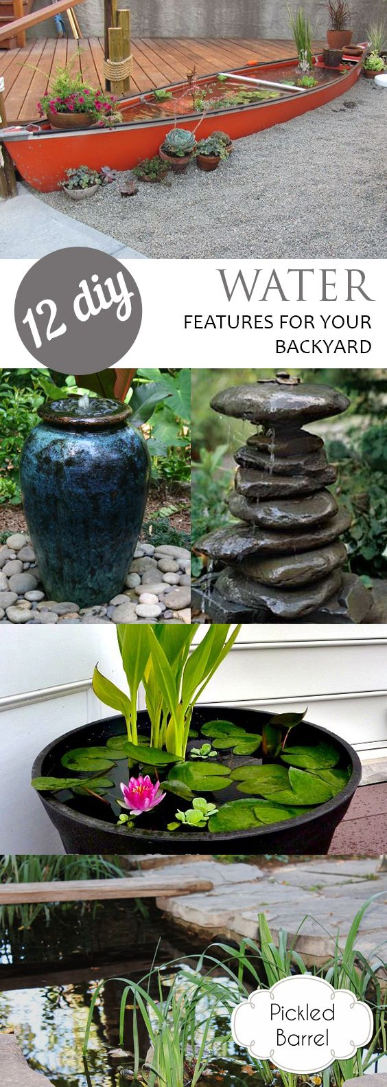 12 DIY Water Features for Your Backyard
