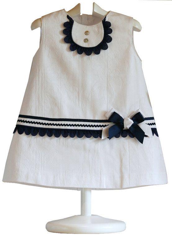 Vestido Bebé Navy - demelocoton.com