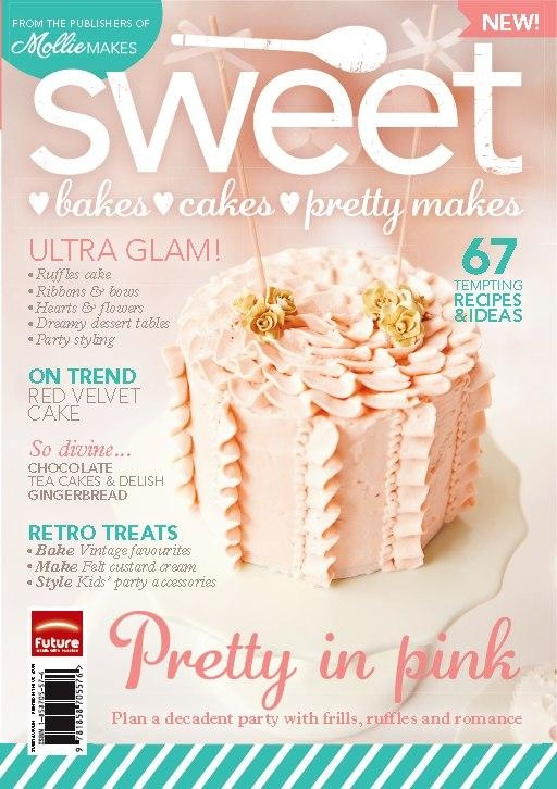 Mollie Makes brand new sister magazine Sweet Bakes Cakes & Pretty Makes! That's a Sweet Tiers Cake on the cover!!  via Avie & Lulu feature