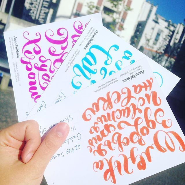 From Portugal with love! To Sweden, Turkey, USA and Russia! I love sending postcard to my friend and spread beautiful #brushpen  calligraphy around the world! Join me! #typeverything #typeshowcase #typespire #TYxCA #lettering #letteringinspiration #леттеринг #postcard #postcrossing #открытка #каллиграфия #брашпен #greetingcards #customtype