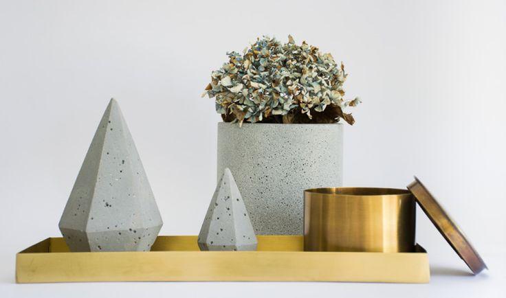 Polished Brass Jars - Set of 2 - Vinterior Contemporary Design