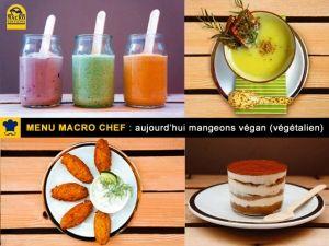 Macro Chef présente un menu végan (végétalien) avec Manuel Marcuccio