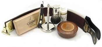 "Straight Razor Shaving Kit - Dovo 5/8"" Carbon steel"
