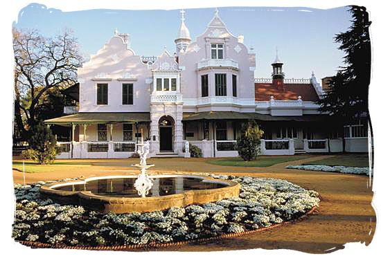 Melrose House in Pretoria, where the peace treaty of Vereniging was signed on the 31st of May 1902, ending the second Anglo-Boer war