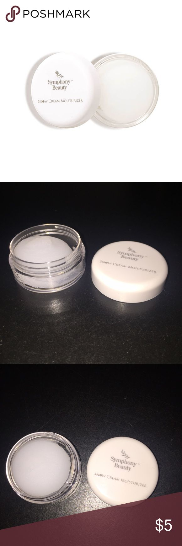 Brand New Snow Cream Moisturizer Brand never never been used Snow Cream Moisturizer by Symphony Beauty! Selling because I have an allergies to one of the ingredients but it has great reviews online! Sephora Makeup